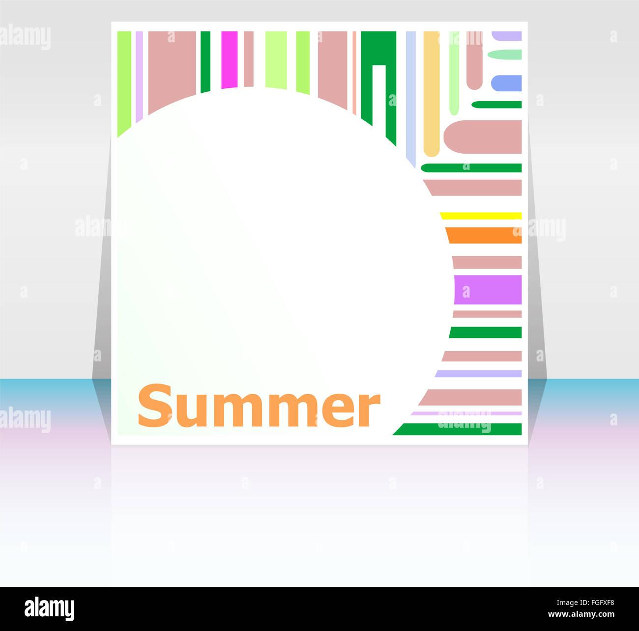 Sommer-Plakat. Sommer Hintergrund. Effekte-Poster, Rahmen. Frohe ...