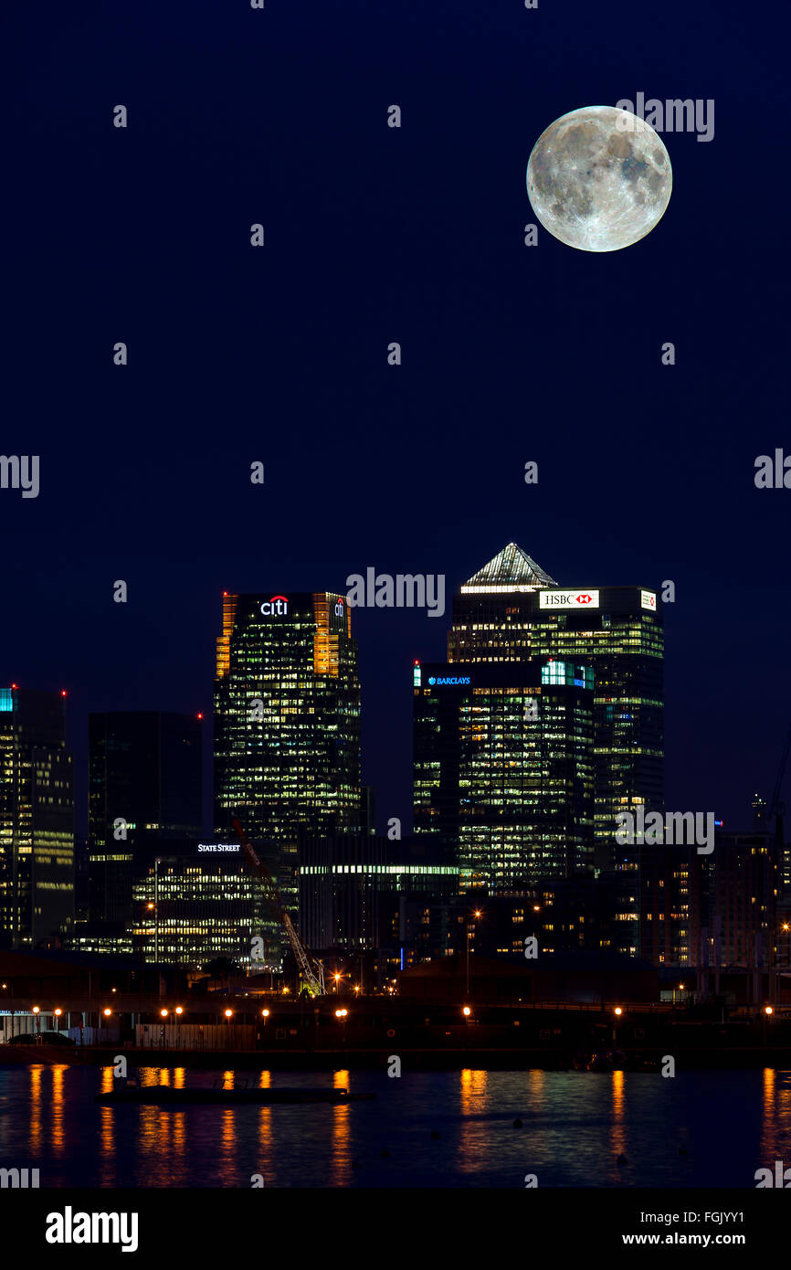 London England Financial Business Center Stockbild