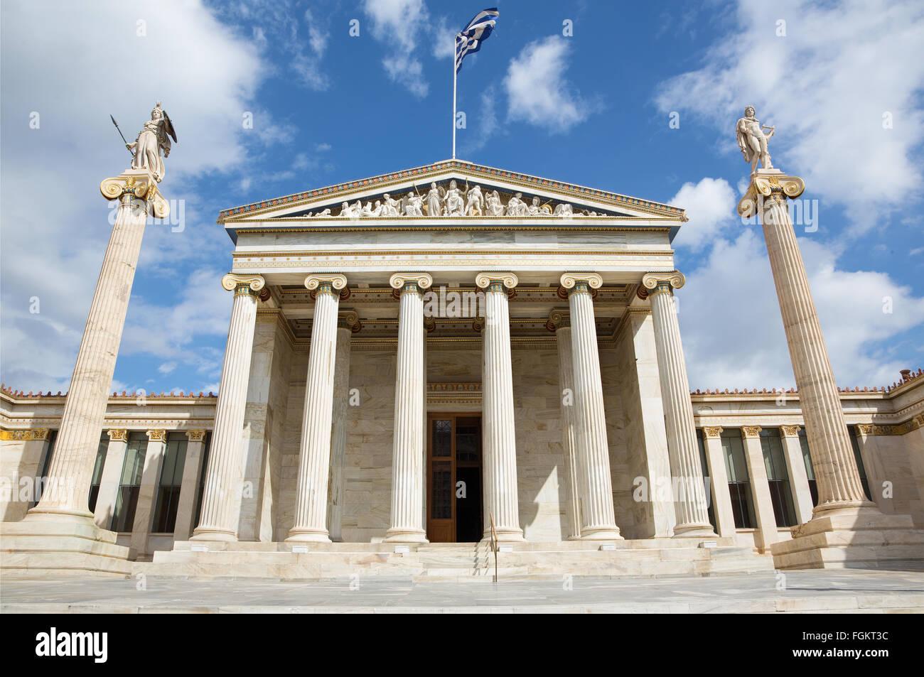 Athen - das nationale Akademie-Gebäude. Stockbild