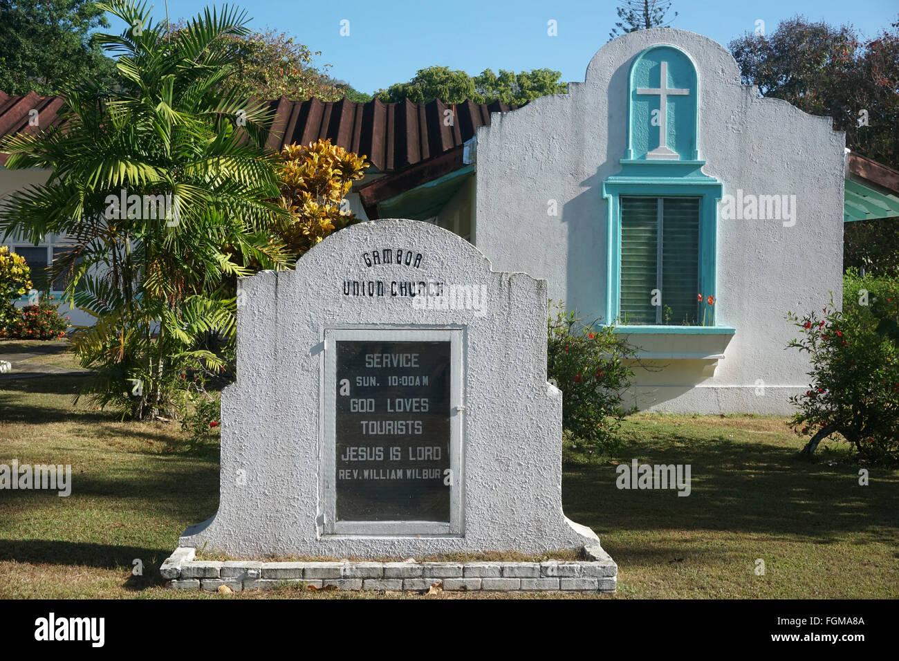 Panama Kirche Gott liebt Touristen Stockfoto