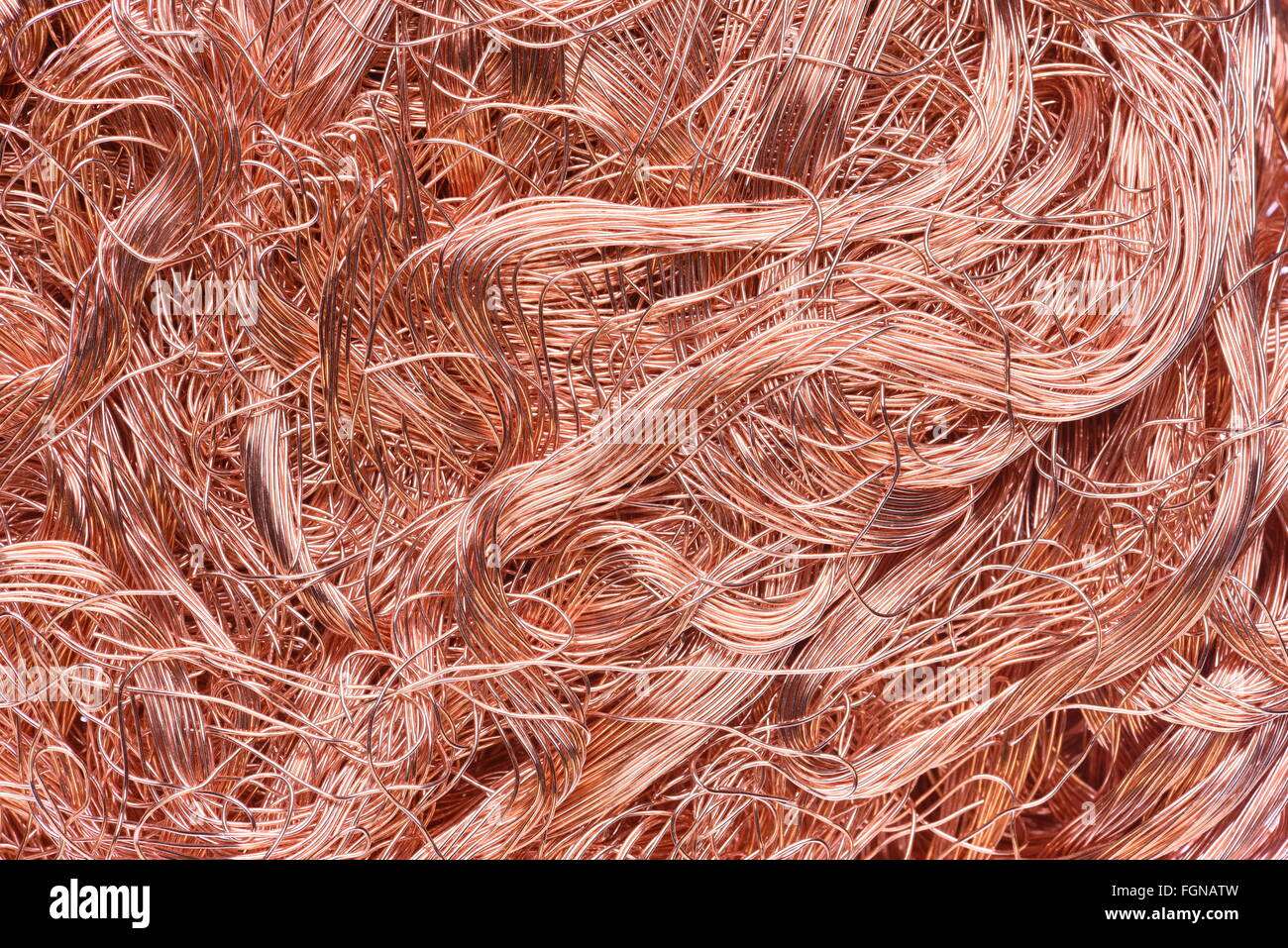 Kupferdraht Industrierohstoffe Stockfoto, Bild: 96355865 - Alamy