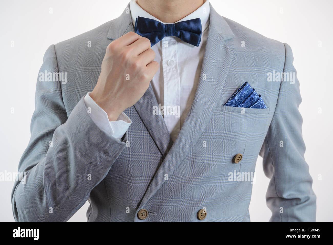 Anzug fliege zum grauen Kaufen Sie