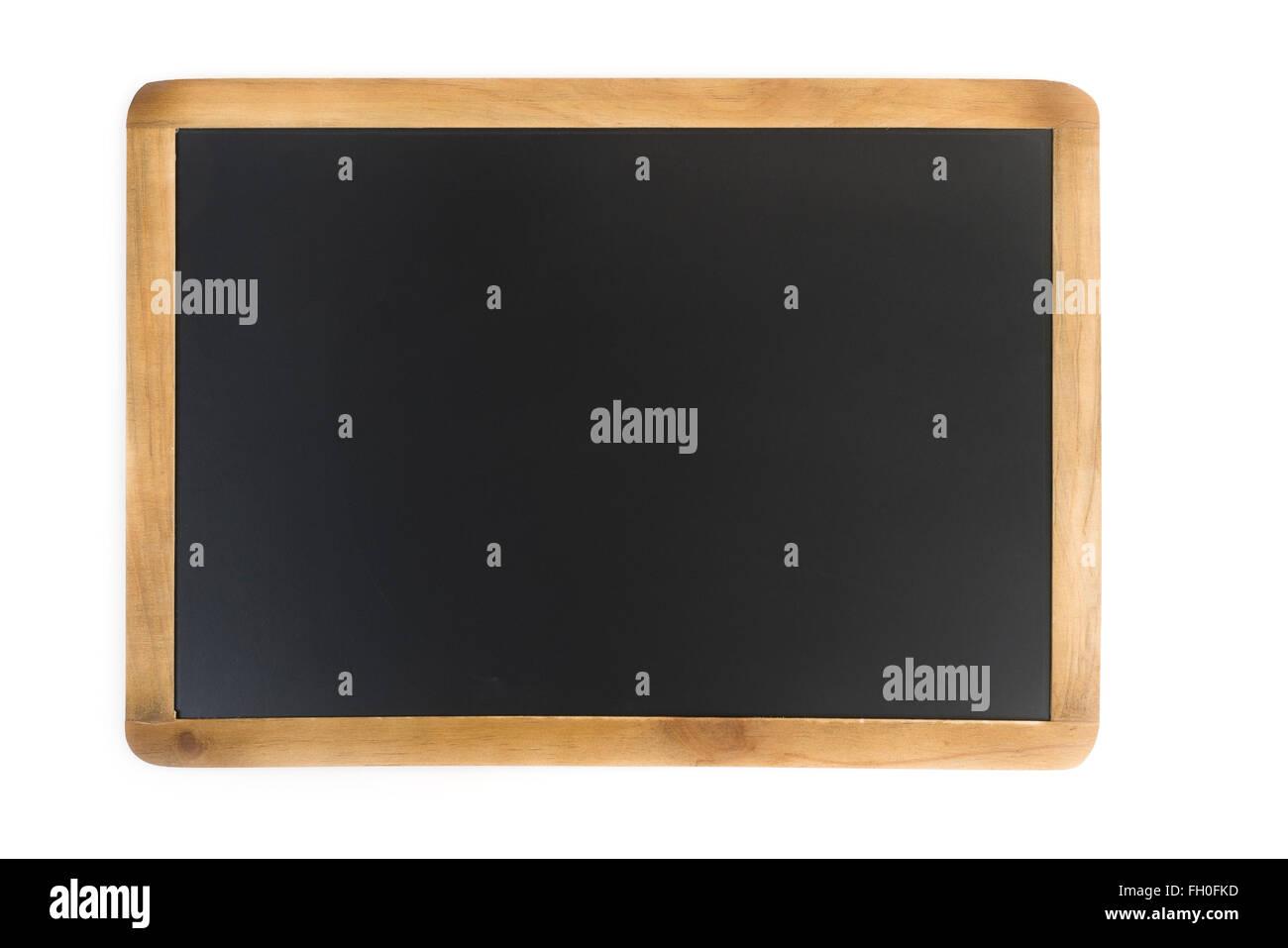 Tafel mit Holzrahmen Stockbild