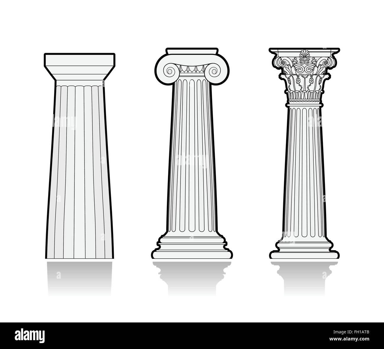 stilisierte griechische s ulen vektor abbildung bild 96531467 alamy. Black Bedroom Furniture Sets. Home Design Ideas