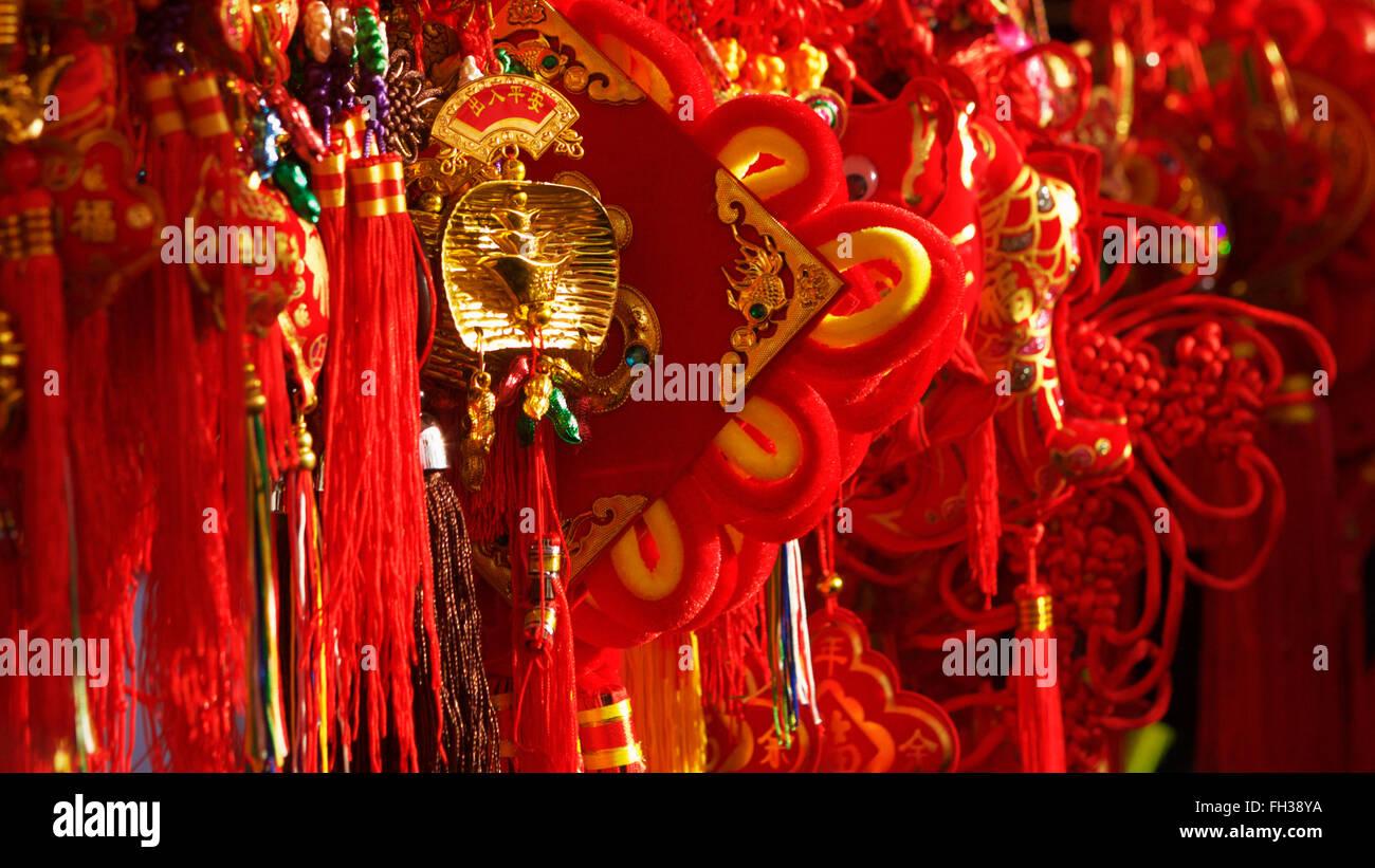 Chinesisches Neujahr-Schmuckstücke Stockfoto, Bild: 96573886 - Alamy