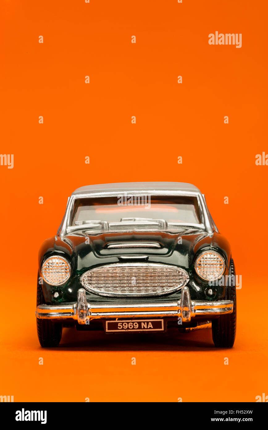 Austin Healey Oldtimer Corgi-Modell Sport Spielzeugauto Stockbild