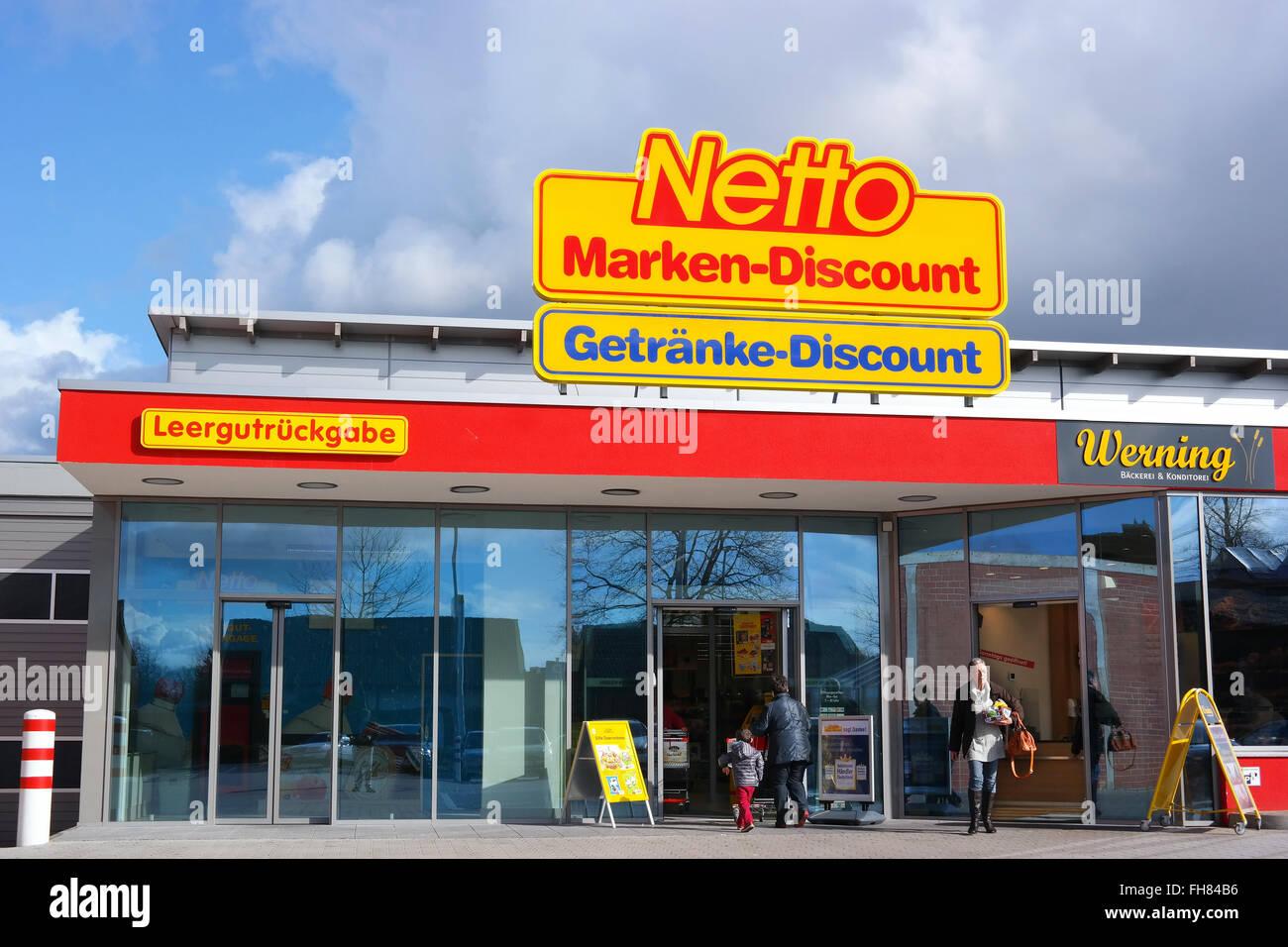 Netto Marken-Discount Supermarkt Stockfoto, Bild: 96680058 - Alamy