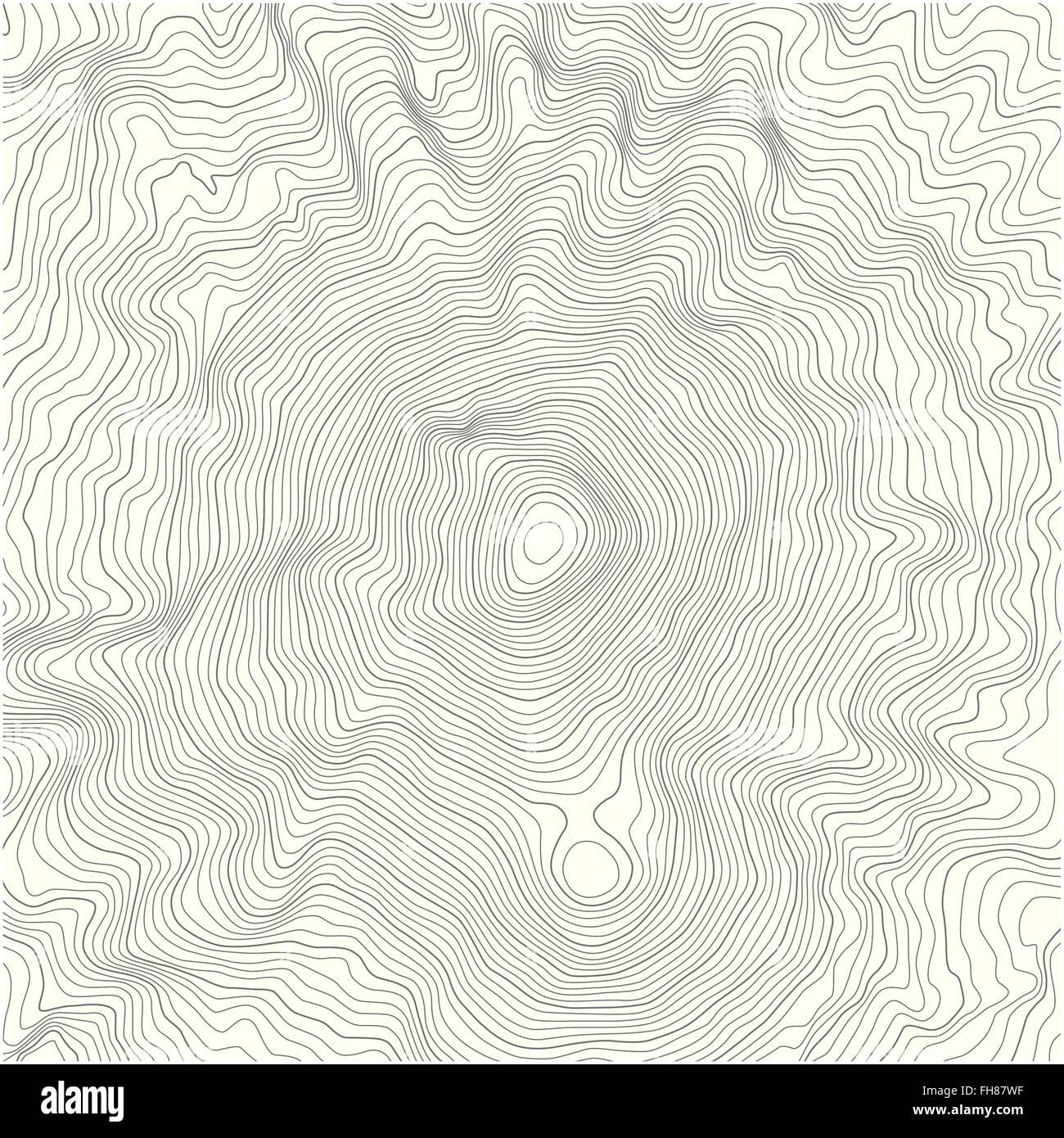 Detaillierte Topografische Karte Mit Hohenlinien Eines Berges