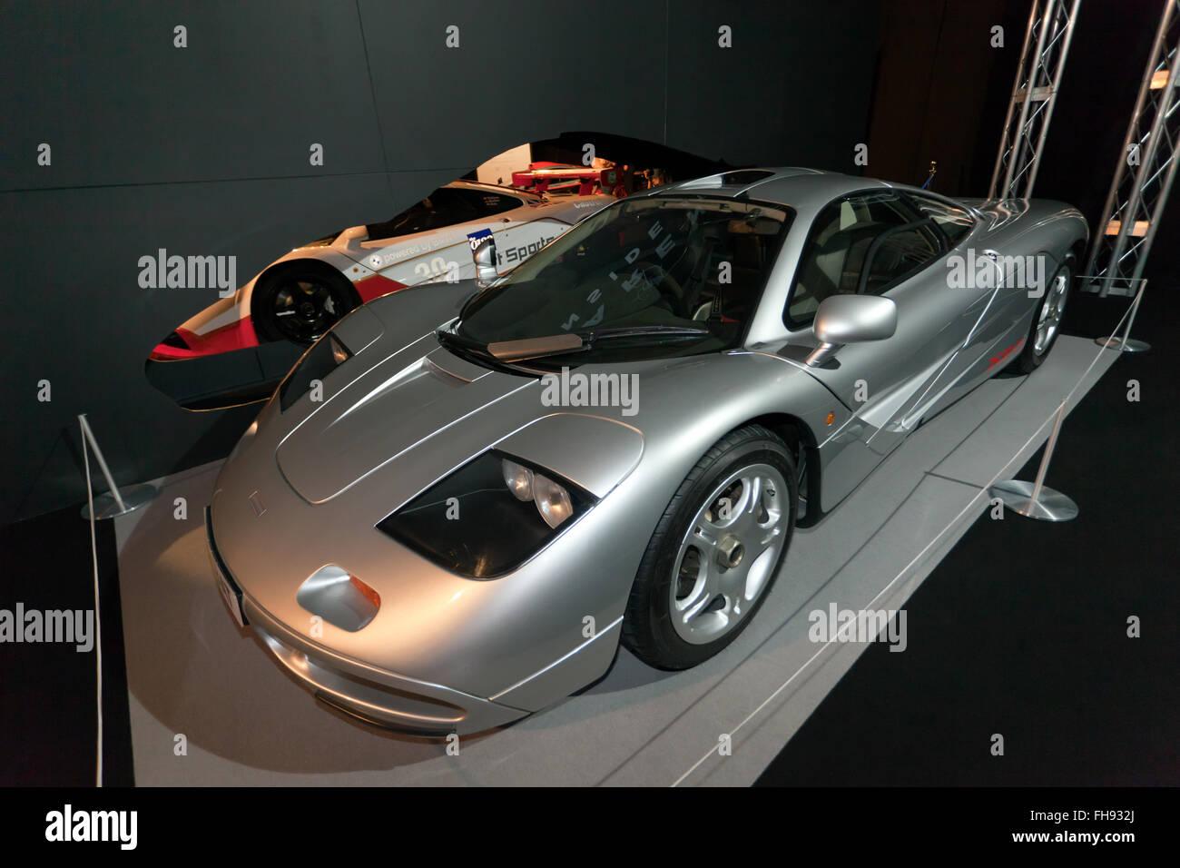 dreiviertelansicht des xp3 prototyp mclaren f1 road autos auf dem