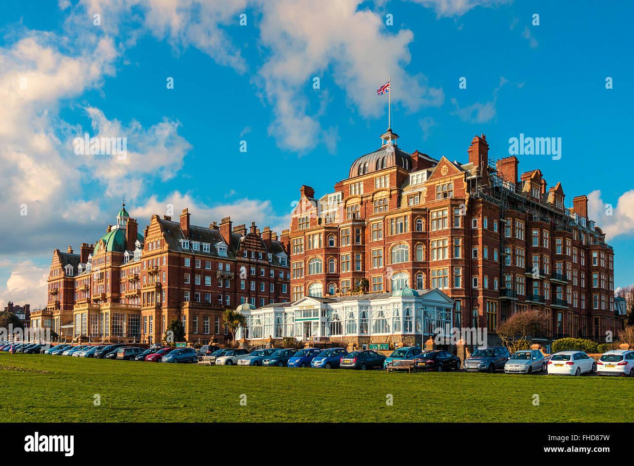 Das Grand und das neue Metropole Lees Folkestone Kent UK Stockbild