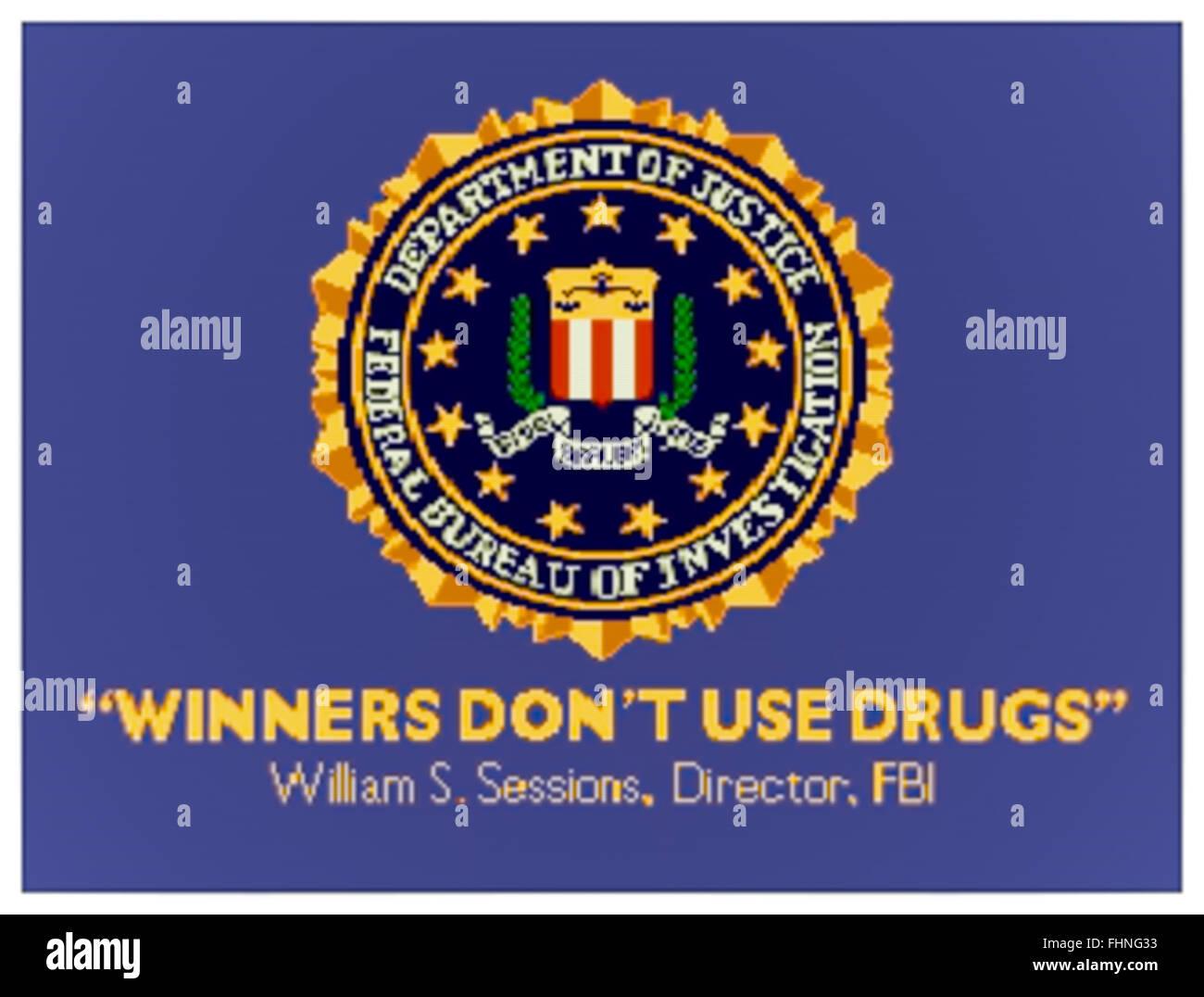 """""""Gewinner Don't Drogen"""" Anti-Drogen-Splash Bildschirm Nachricht auf Münz-Arcade-Maschinen während Stockbild"""