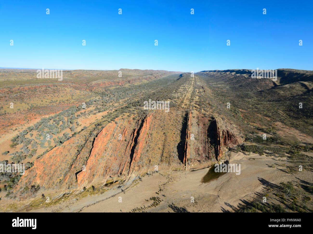 Luftaufnahme der West MacDonnell Ranges, Northern Territory, Australien Stockbild