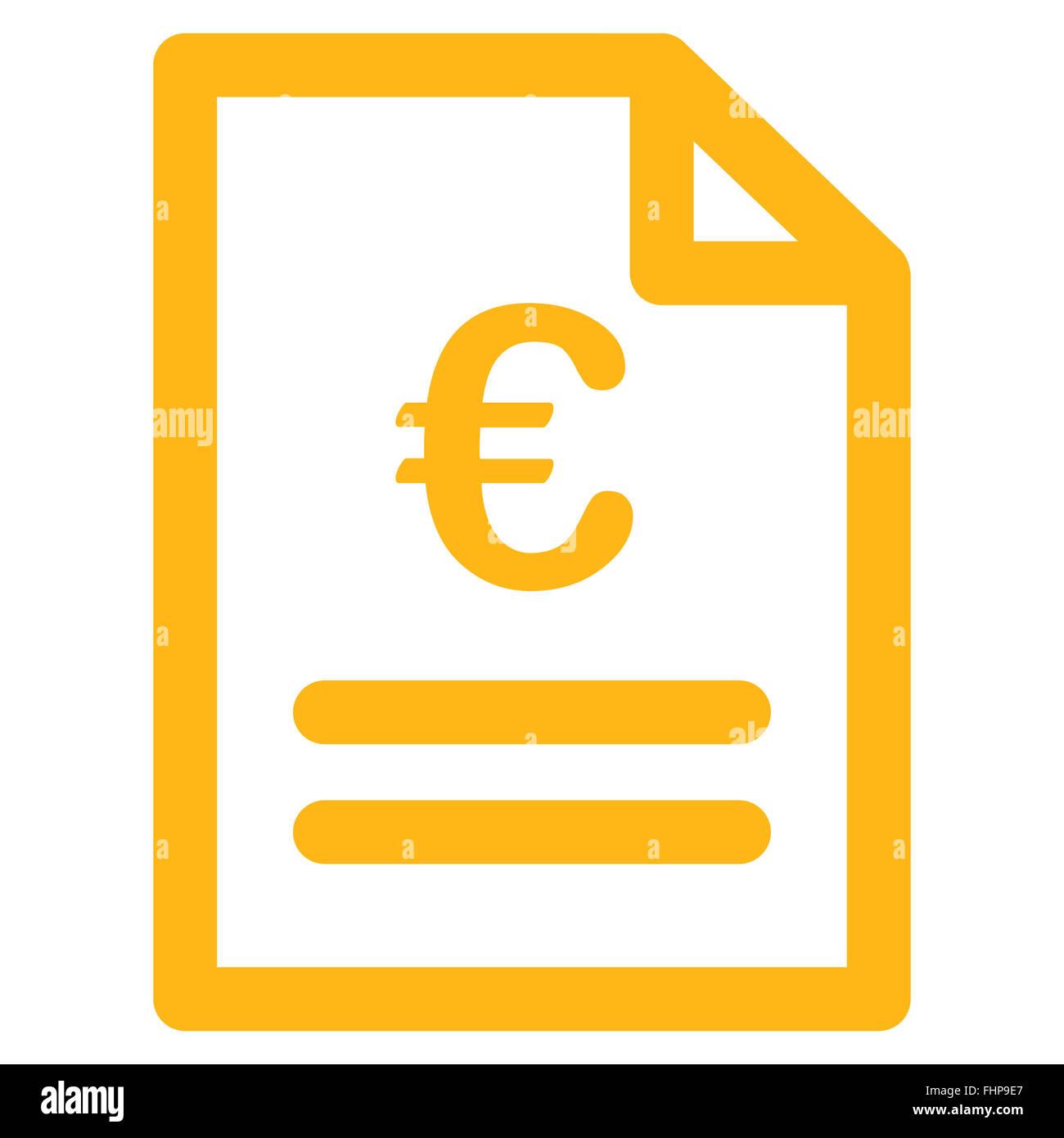 Euro-Rechnung-Symbol Stockfoto, Bild: 96991391 - Alamy