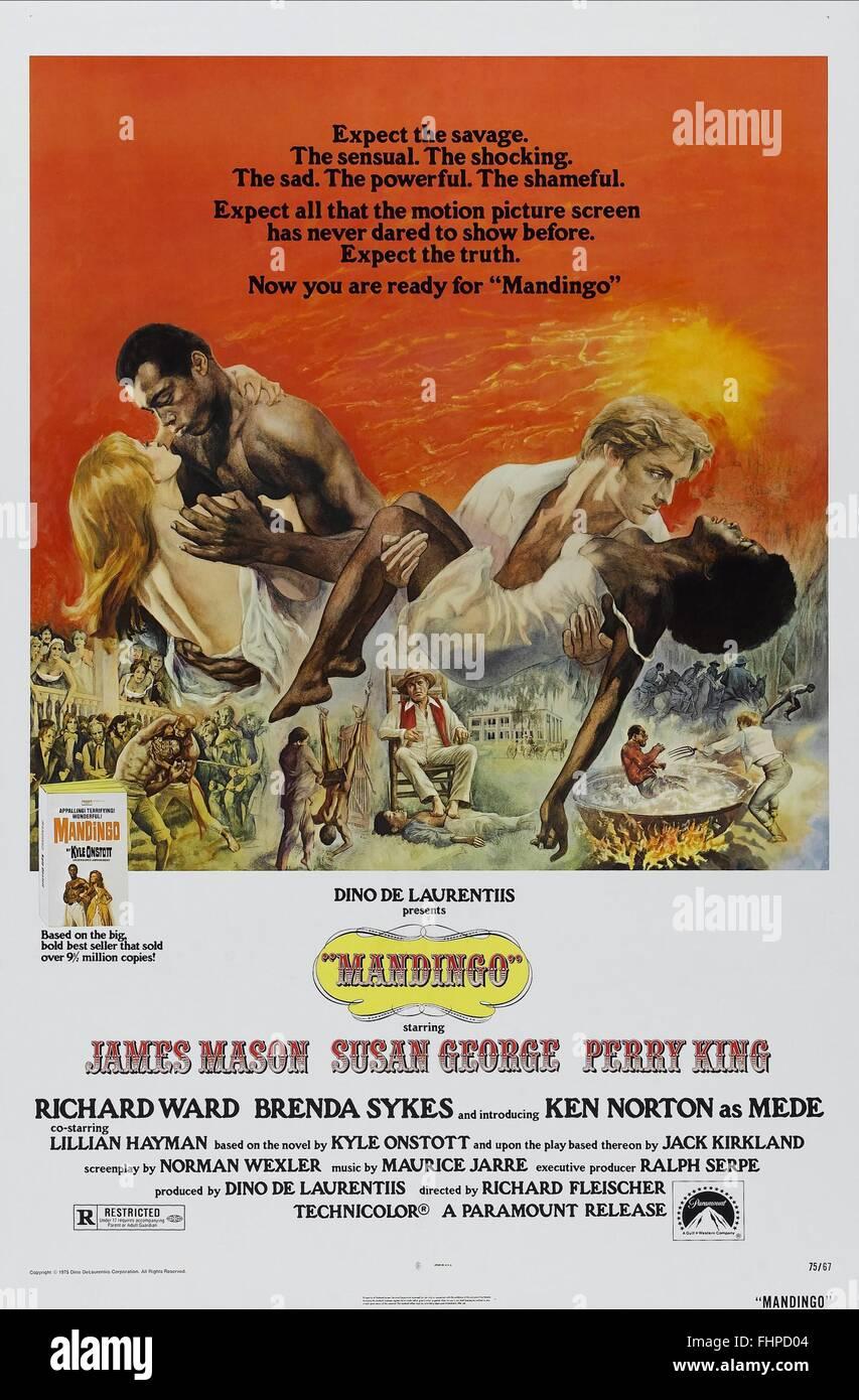 FILM POSTER MANDINGO (1975) Stockbild
