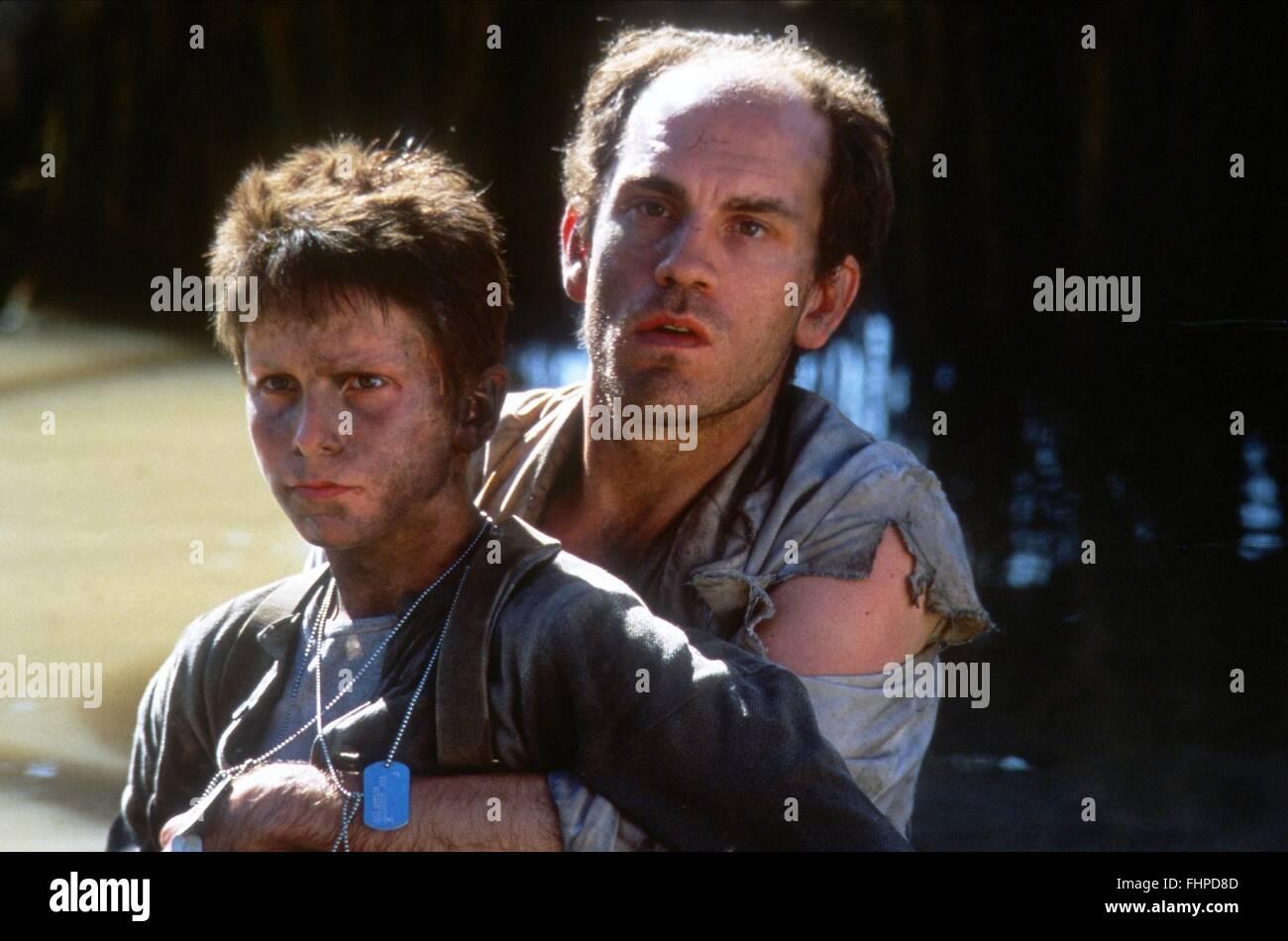 CHRISTIAN BALE, JOHN MALKOVICH, REICH DER SONNE, 1987 Stockbild