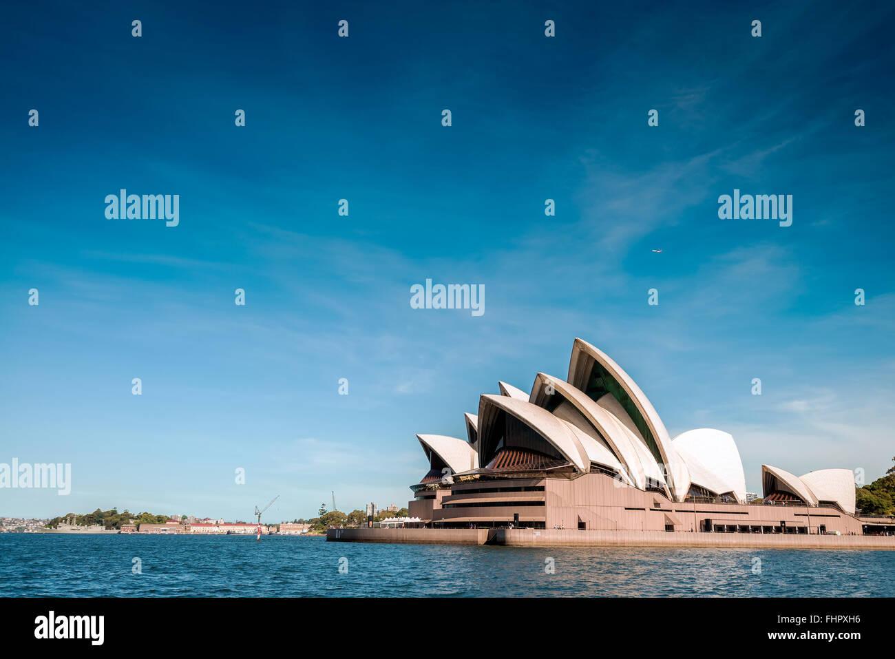 Sydney, Australien - 9. November 2015: The Sydney Opera House ist ein Multi-Veranstaltungsort Performing Arts Center Stockfoto