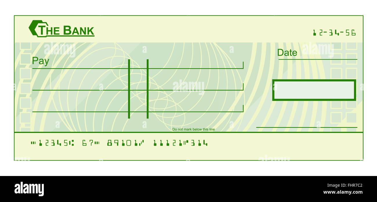 Ein Blankoscheck Check Vorlage Beispiel Stockfoto Bild 97011714