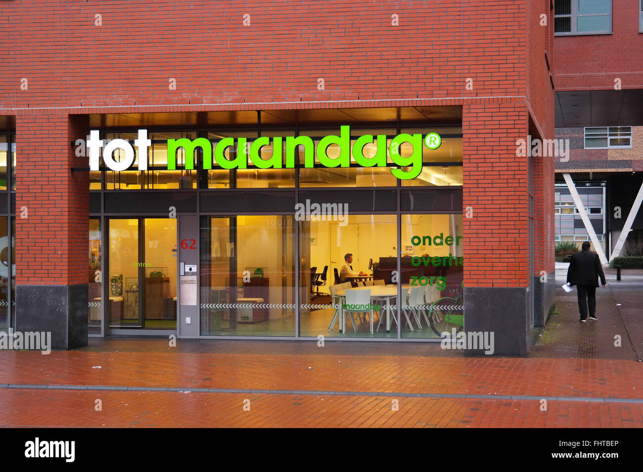 Agentur für Arbeit: Maandag tot Stockfoto