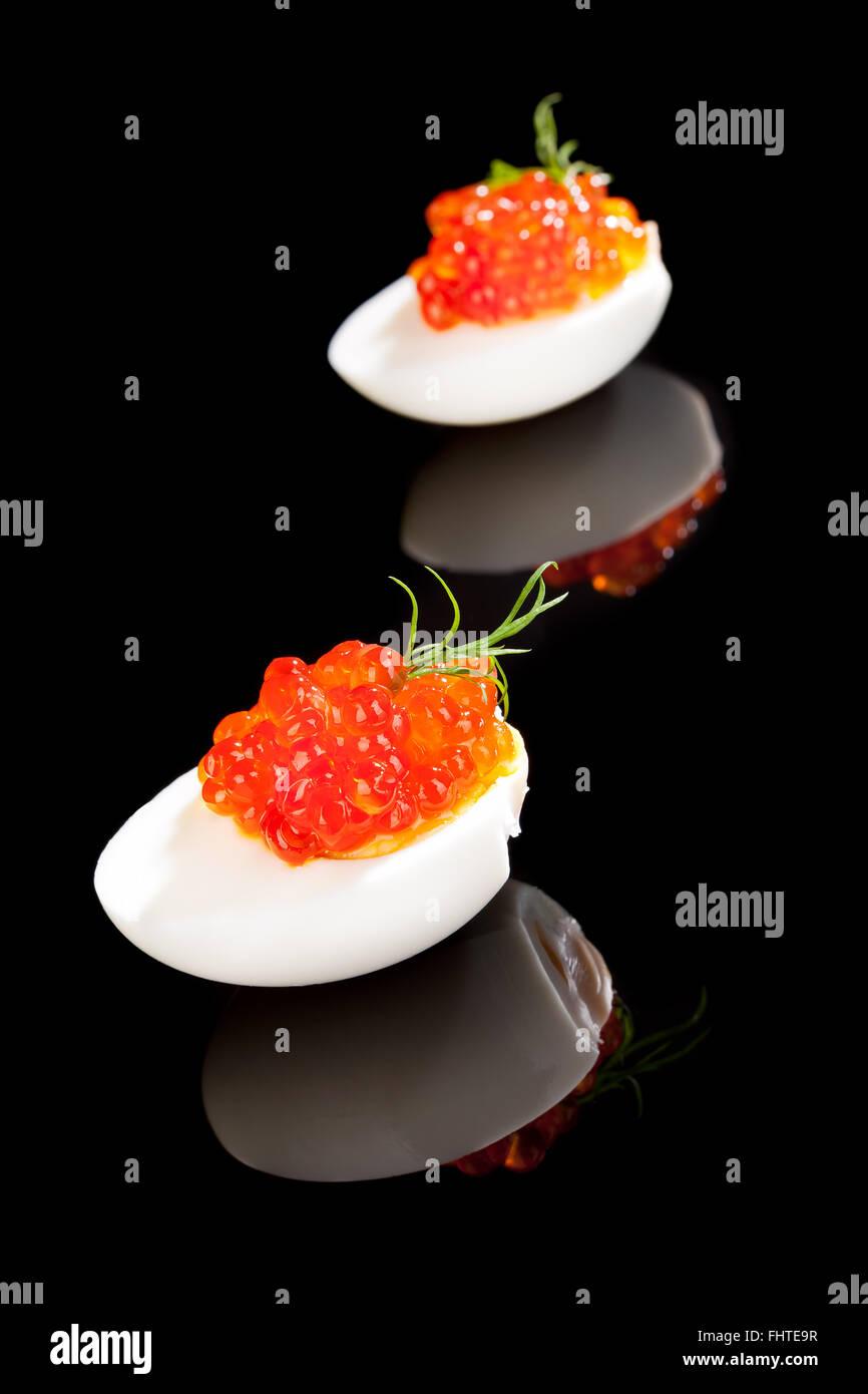 Luxus Essen Kaviar. Stockbild