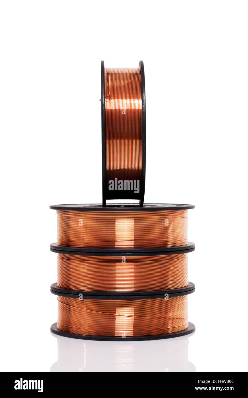 Copper Wire Spools Stockfotos & Copper Wire Spools Bilder - Alamy