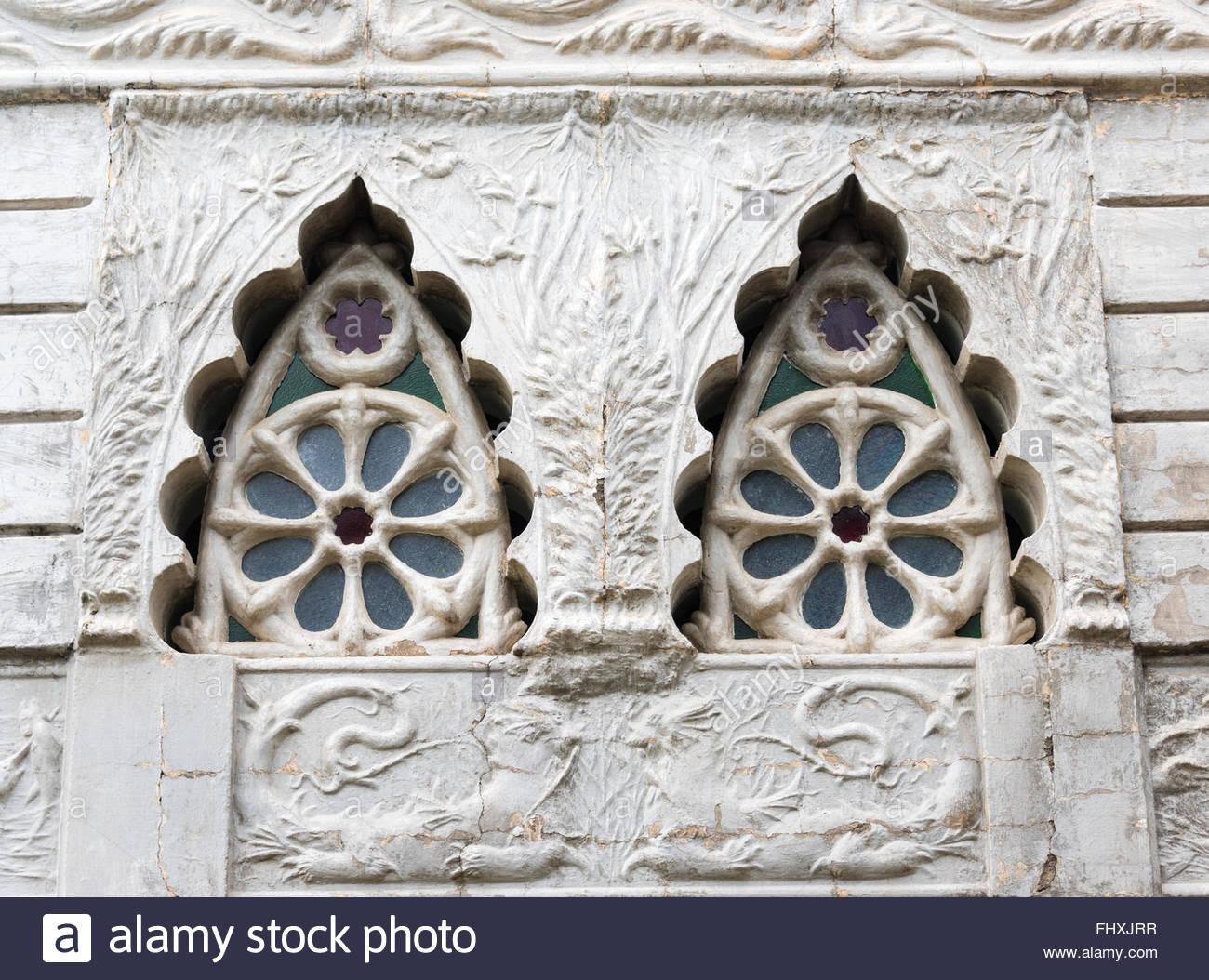 Die Guash Palast architektonischen Details, derzeit Museum of Natural History. Das Gebäude zeichnet sich durch Stockbild