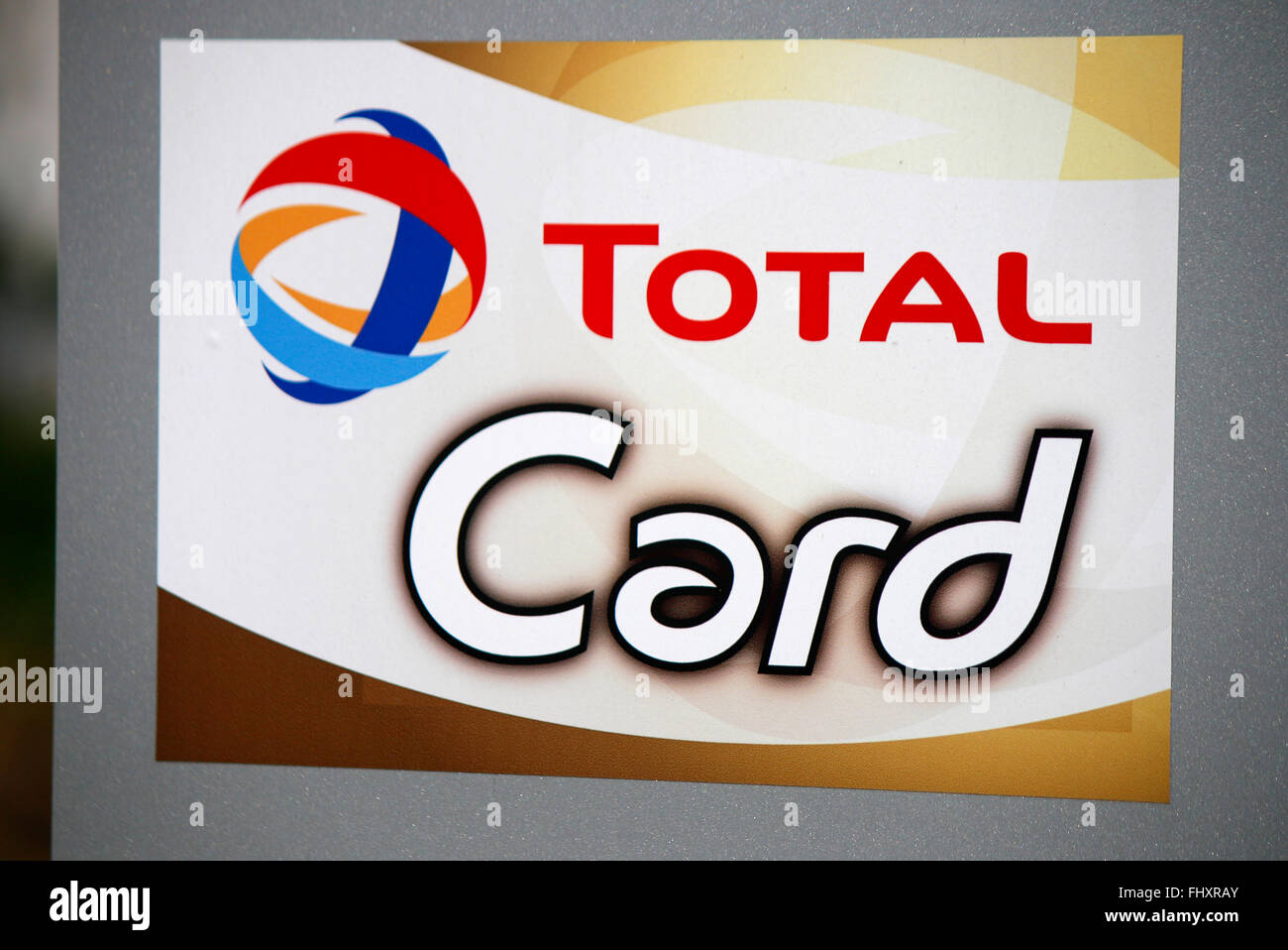 "Markennamen: ""Total Card"", Berlin. Stockbild"