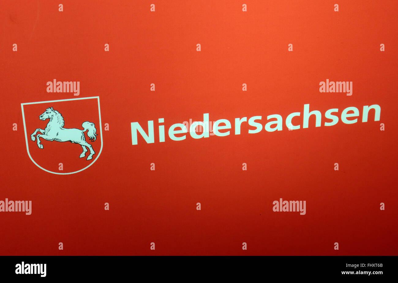 """Markennamen: """"Niedersachsen"""", Berlin. Stockbild"""