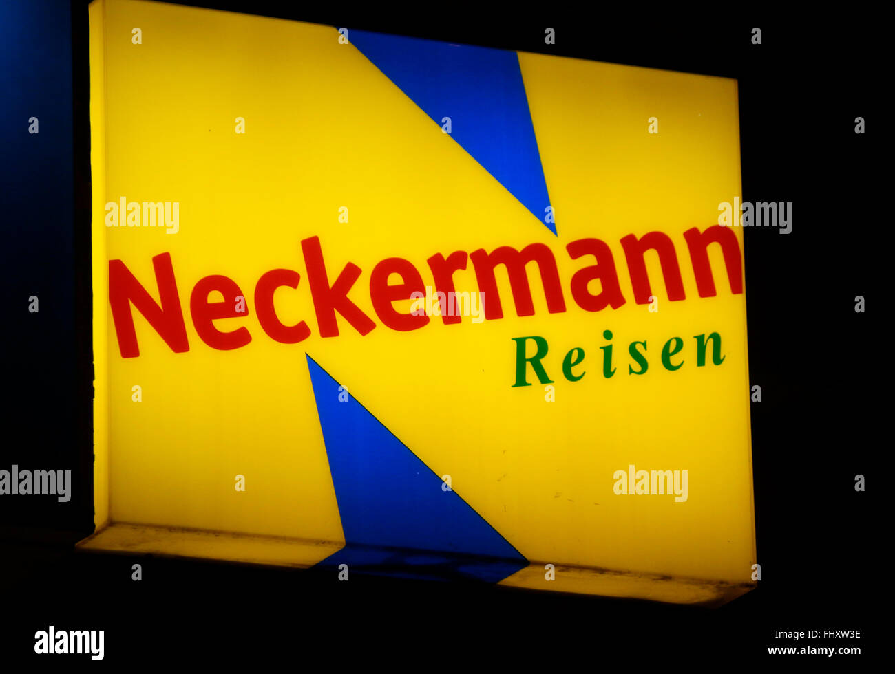 "Markennamen: ""Neckermann Reisen"", Berlin. Stockbild"