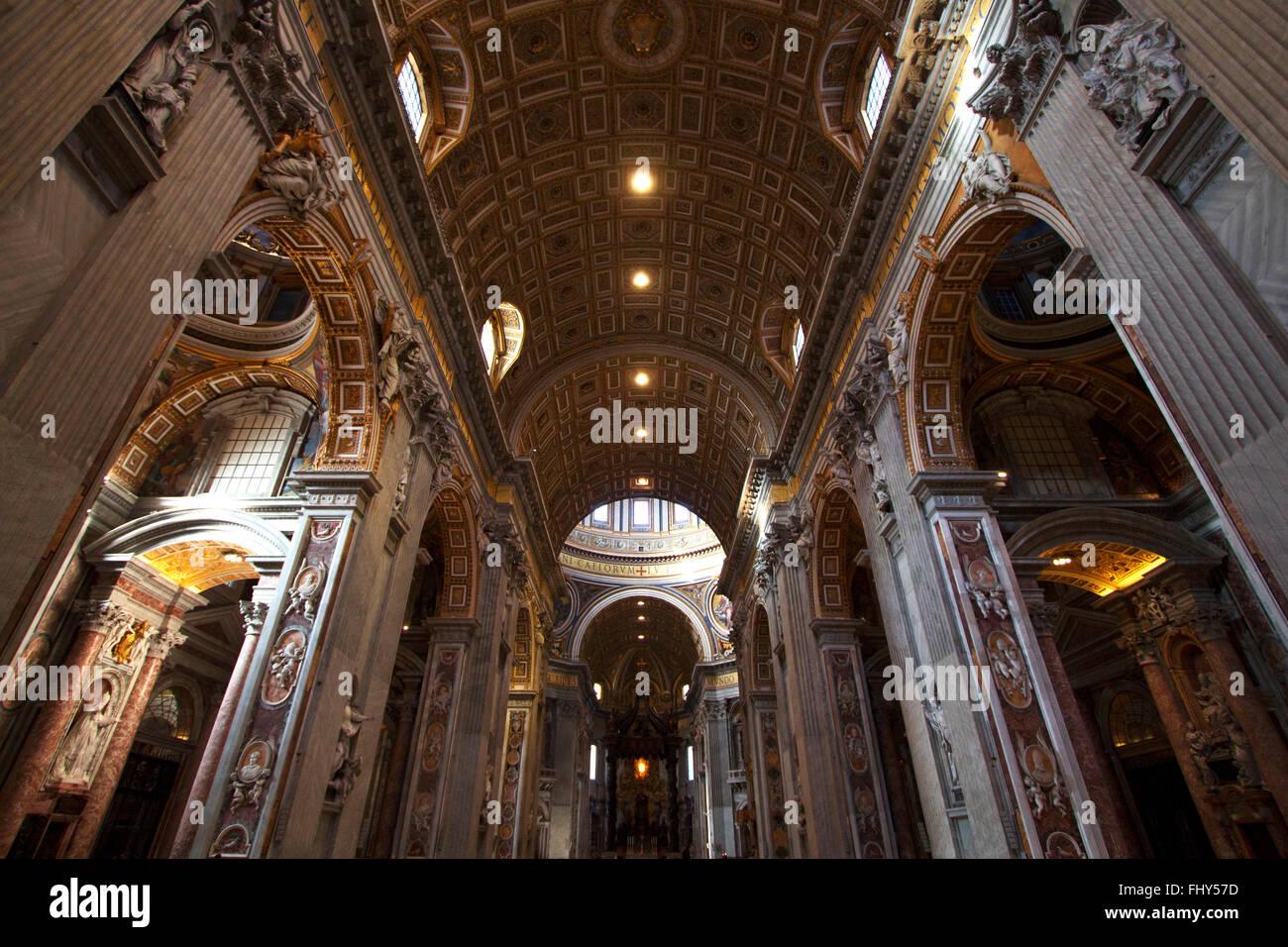 In St. Peters Basilica Kirche, Rom, Italien Stockbild