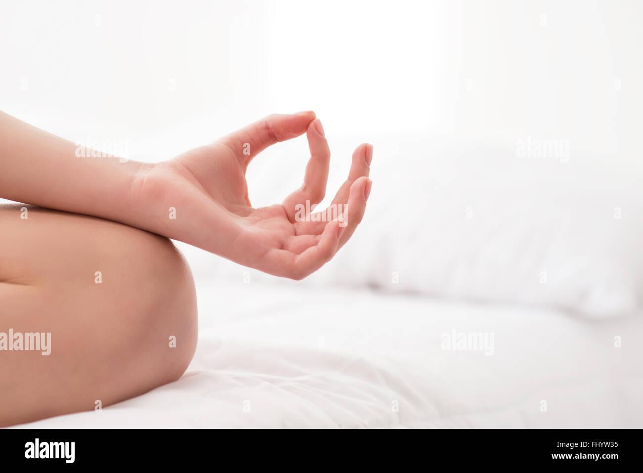 Leben Sie ein gesundes und kümmern Sie uns um deine Seele Stockbild