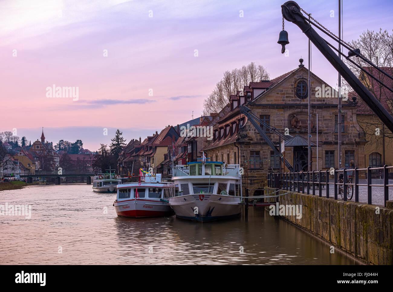Schlachthaus / Klein Venedig Bamberg Stockbild