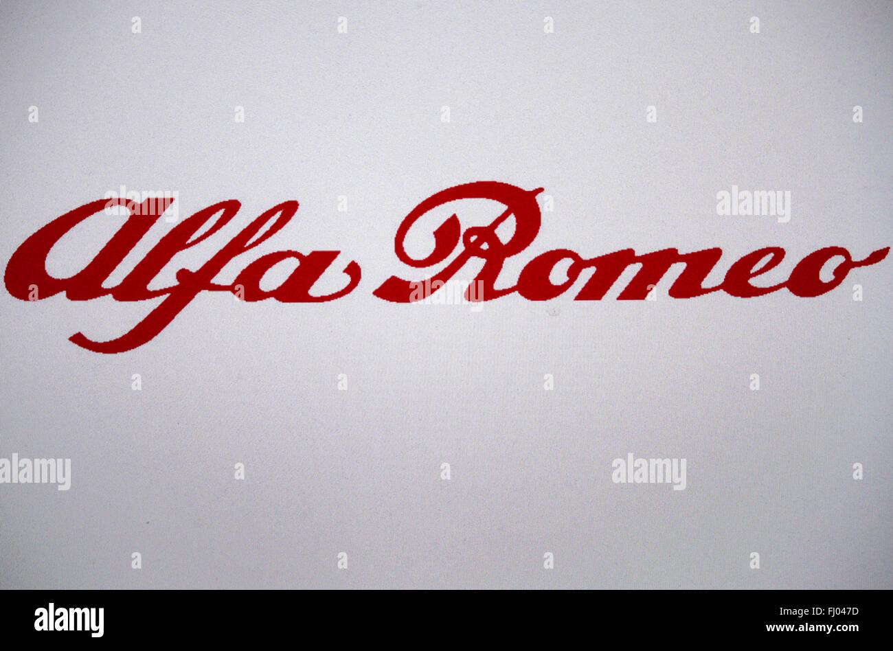 "Markenname: ""Alfa Romeo"", Berlin. Stockbild"