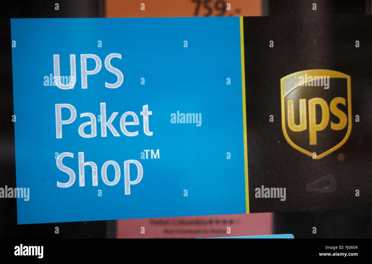 "Markenname: ""UPS United Parcel Service"", Berlin. Stockbild"