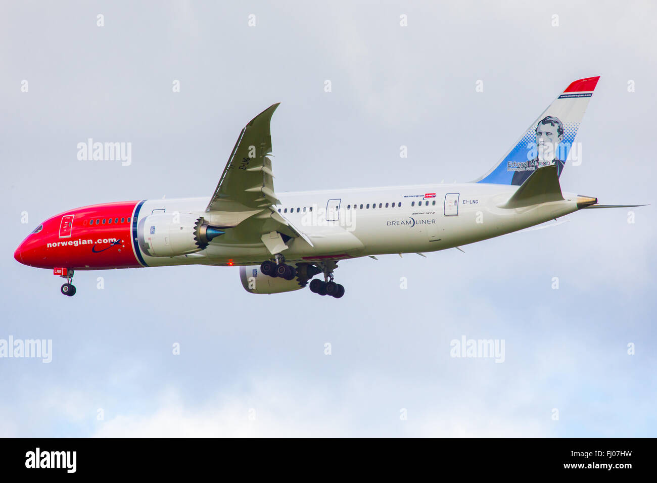 Norwegian Air Shuttle Boeing 787 Dreamliner Stockbild