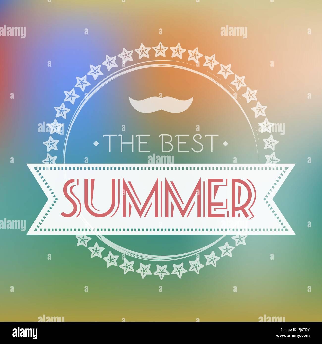 Besten Sommer-Flyer-Vektor-Illustration. Urlaub Hot Vacation Card ...