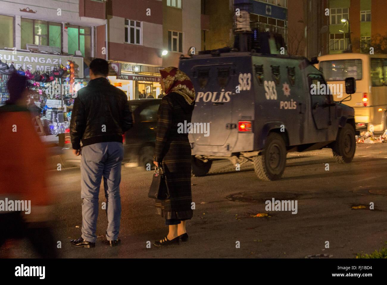 Istanbul Türkei 27 Februar 2016 Gestern Abend Hat Der Gazi