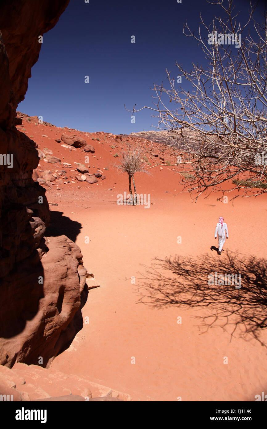 Wadi Rum wüste Landschaft in Jordanien, Naher Osten Stockbild