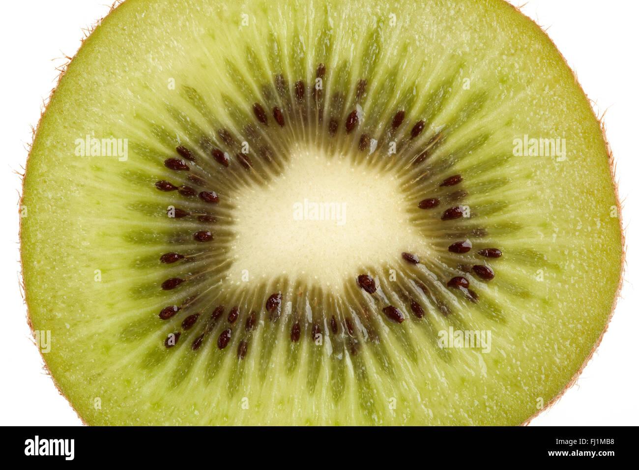 Frische Scheibe Kiwifrucht hautnah Stockbild