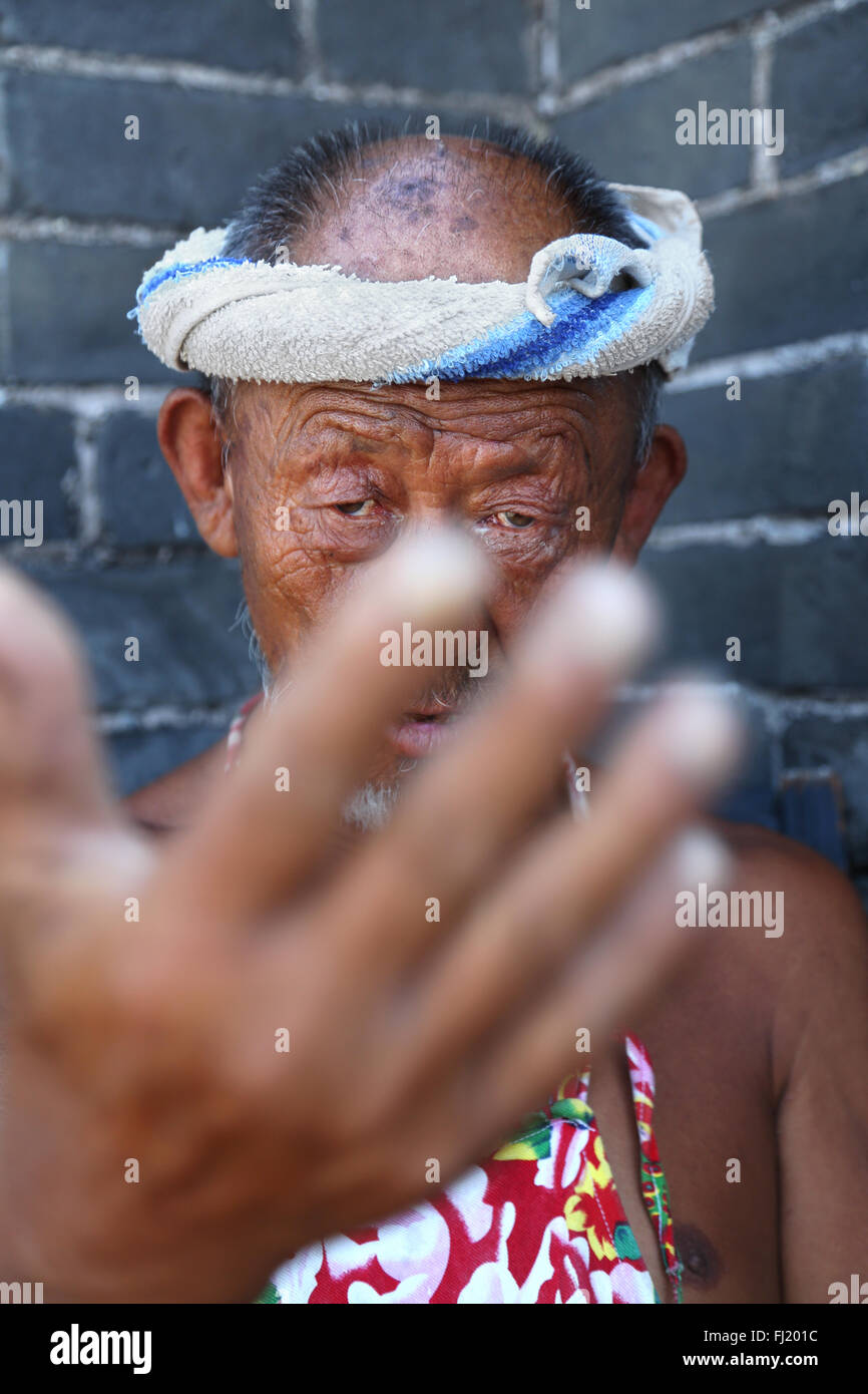China Porträt Gesicht Augen Stockbild