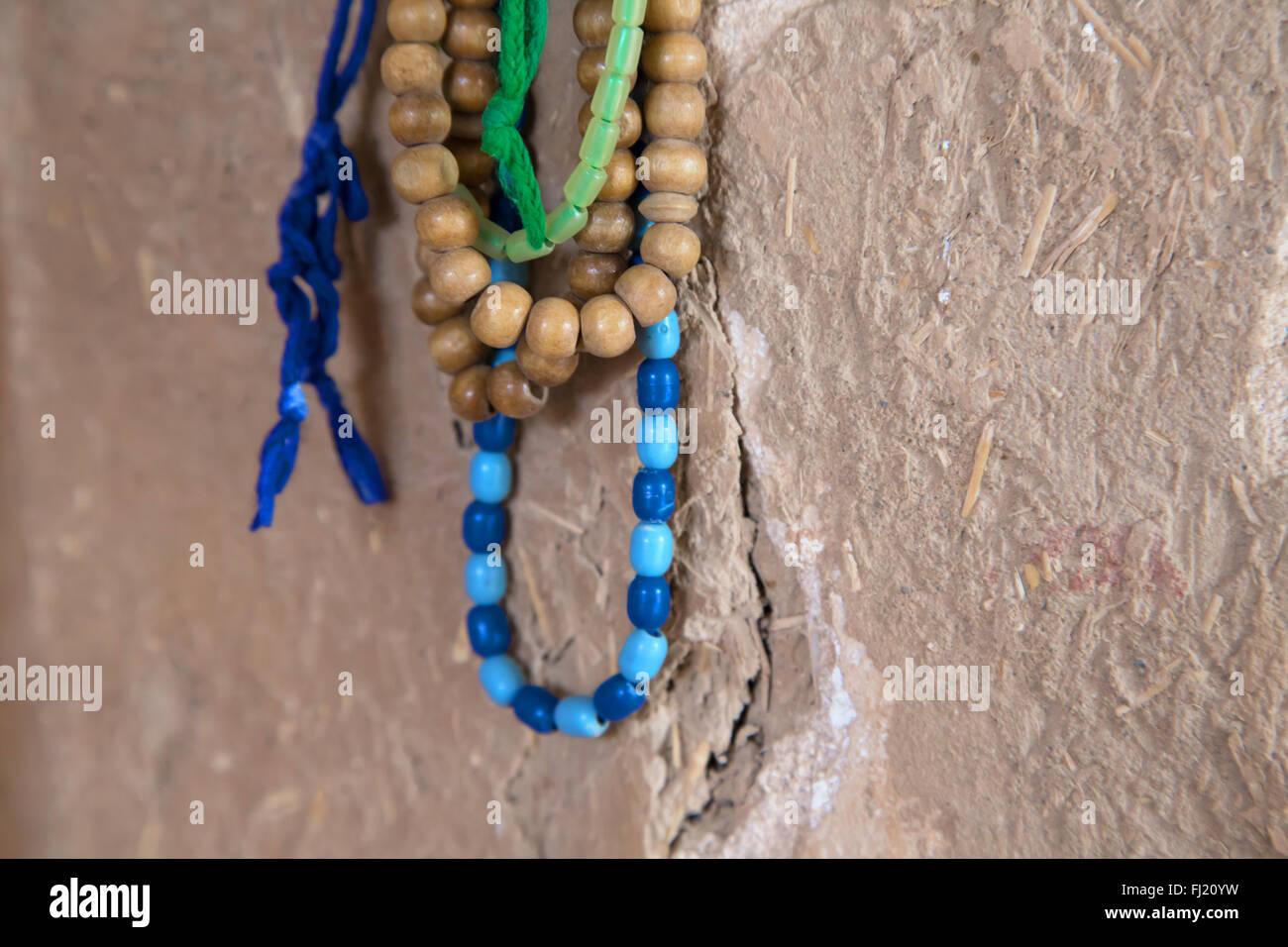 Das islamische Gebet Perlen, Rosenkranz, Yazd, Iran Stockbild