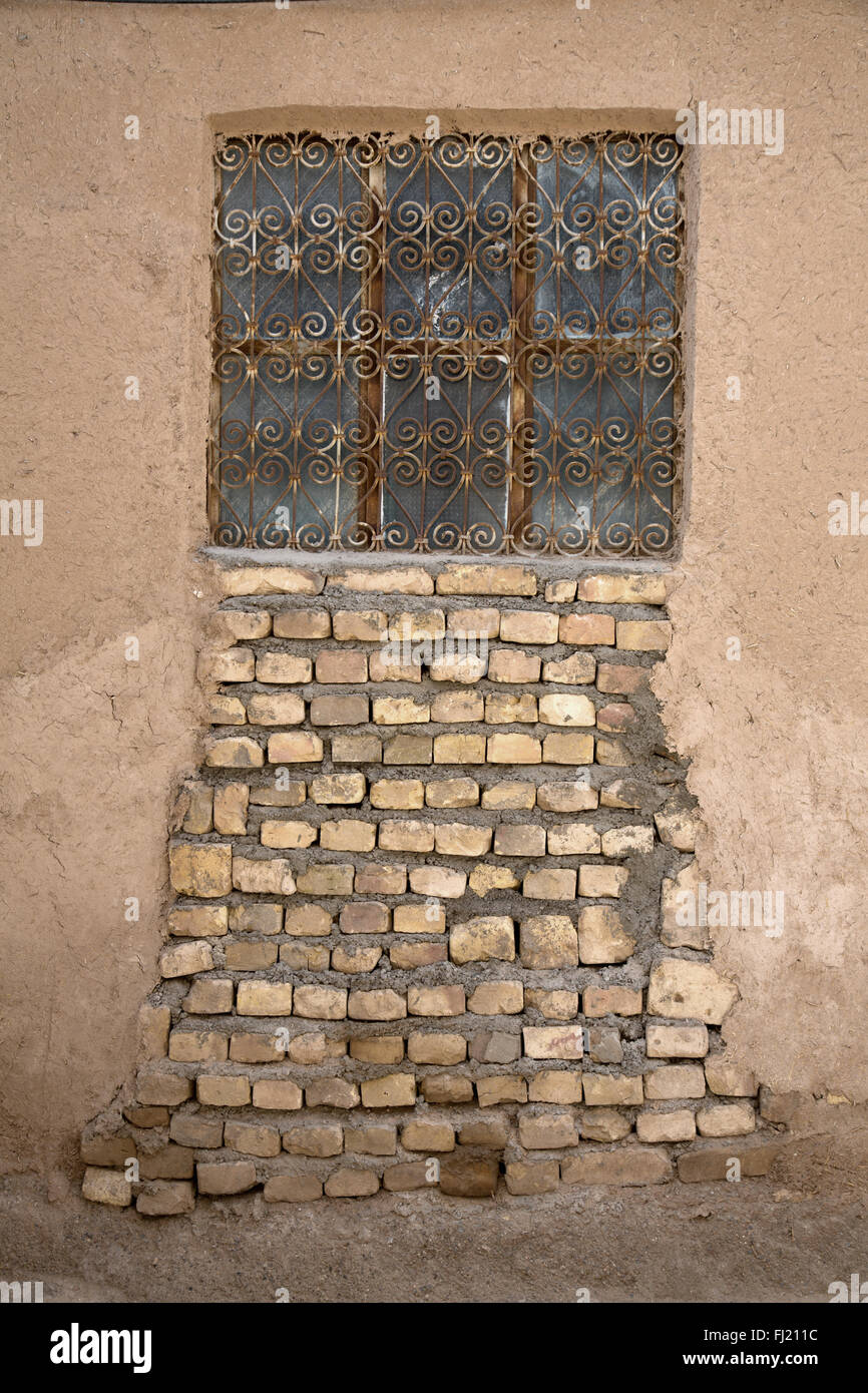 Winbdow Architektur in der Altstadt von Yazd, Iran Stockbild