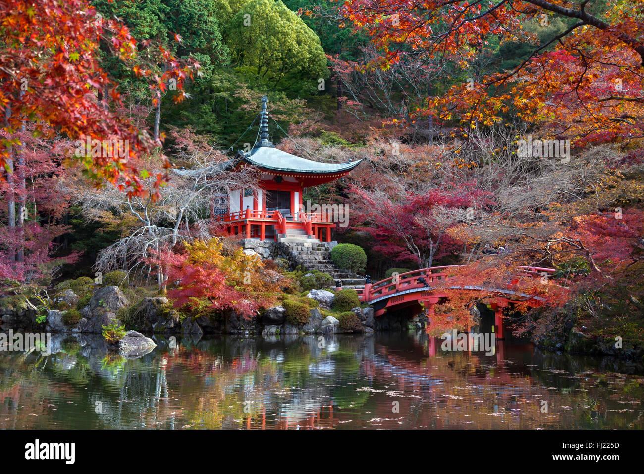 Daigoji, Tempel des Shingon Sekte des japanischen Buddhismus und ein designierter Weltkulturerbe der UNESCO in Kyoto, Stockbild