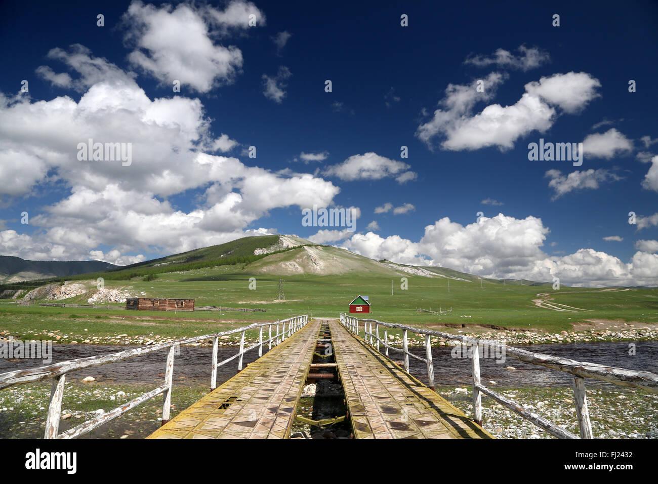 Mongolei-Landschaft Stockfoto