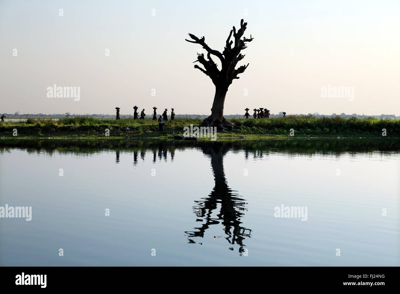 Landschaft in Amarapura, Myanmar Stockbild