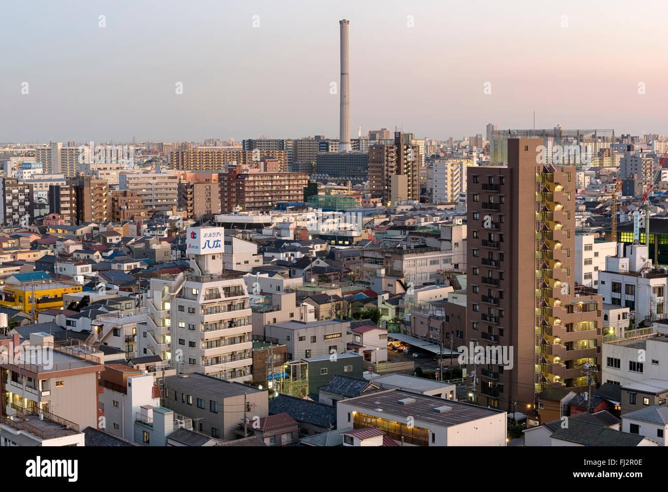 Gesamtansicht der Skyline von Asakusa in Tokyo, Japan. Stockbild
