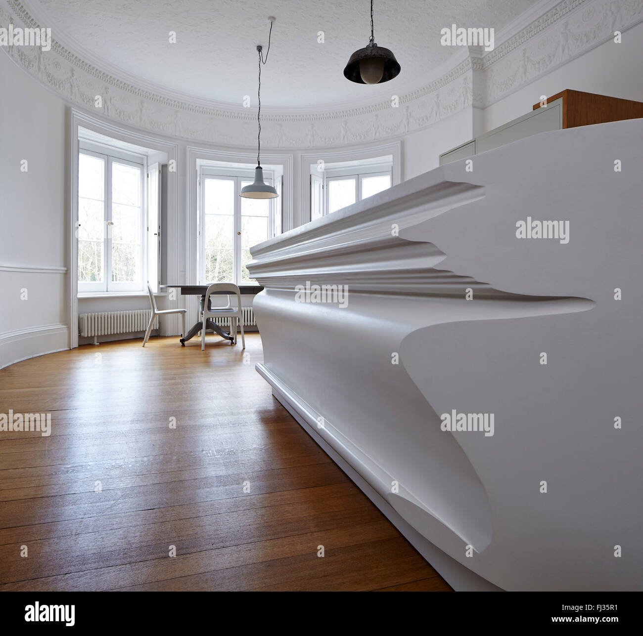 Niedrige abgewinkelt Detail Digital kopierten Küche Insel Insertion ...