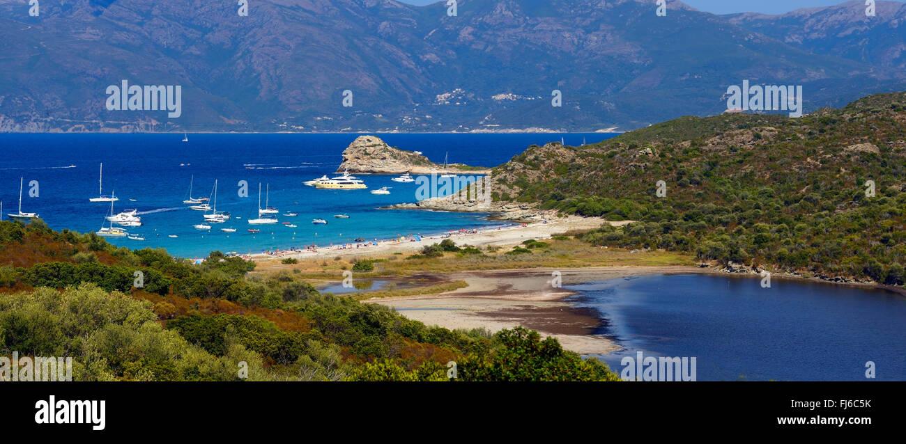 Strand La Plage du Lotu, Frankreich, Korsika, Desert des Agriates, Saint-Florent Stockbild