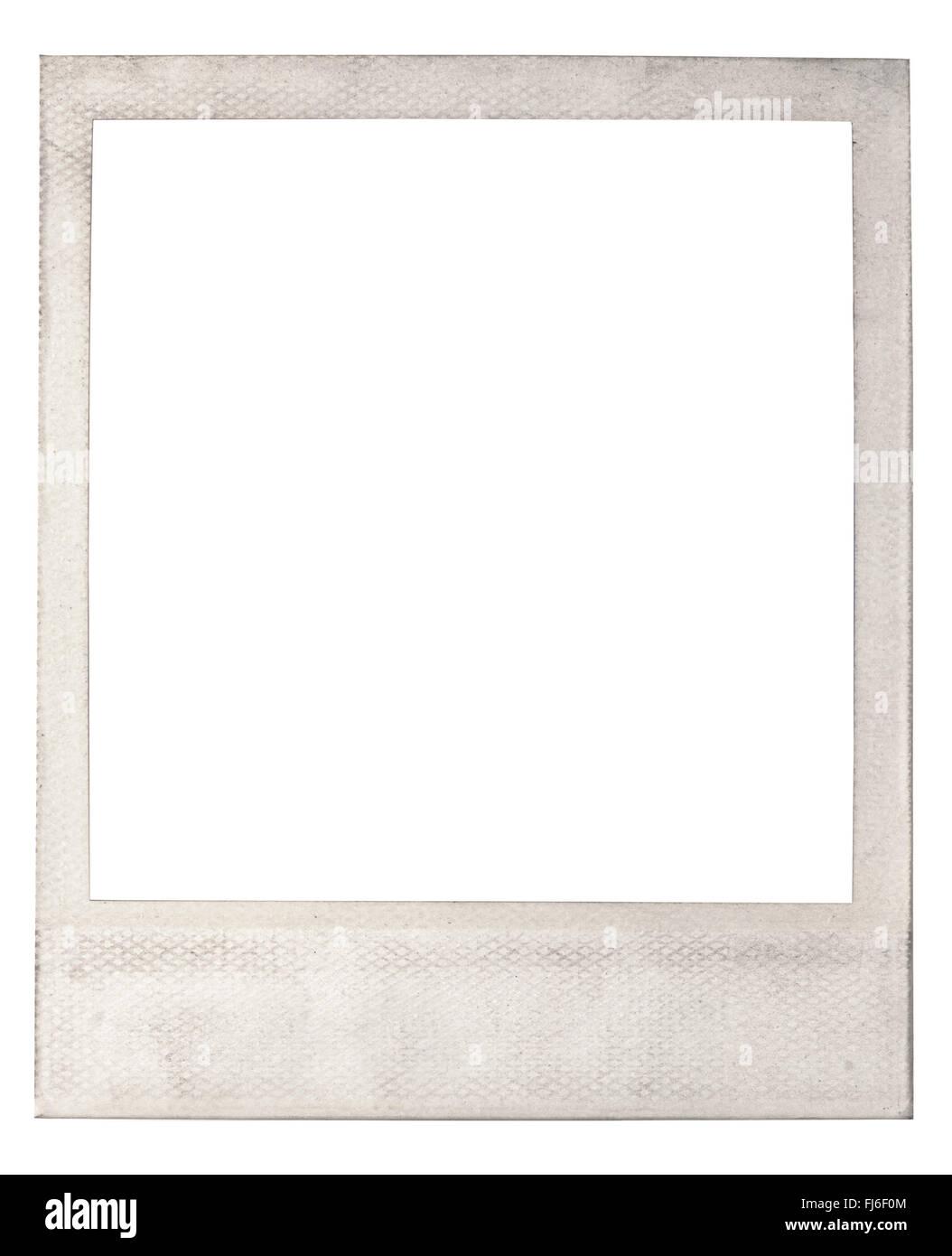 Alte leere instant Polaroid-Rahmen Stockbild