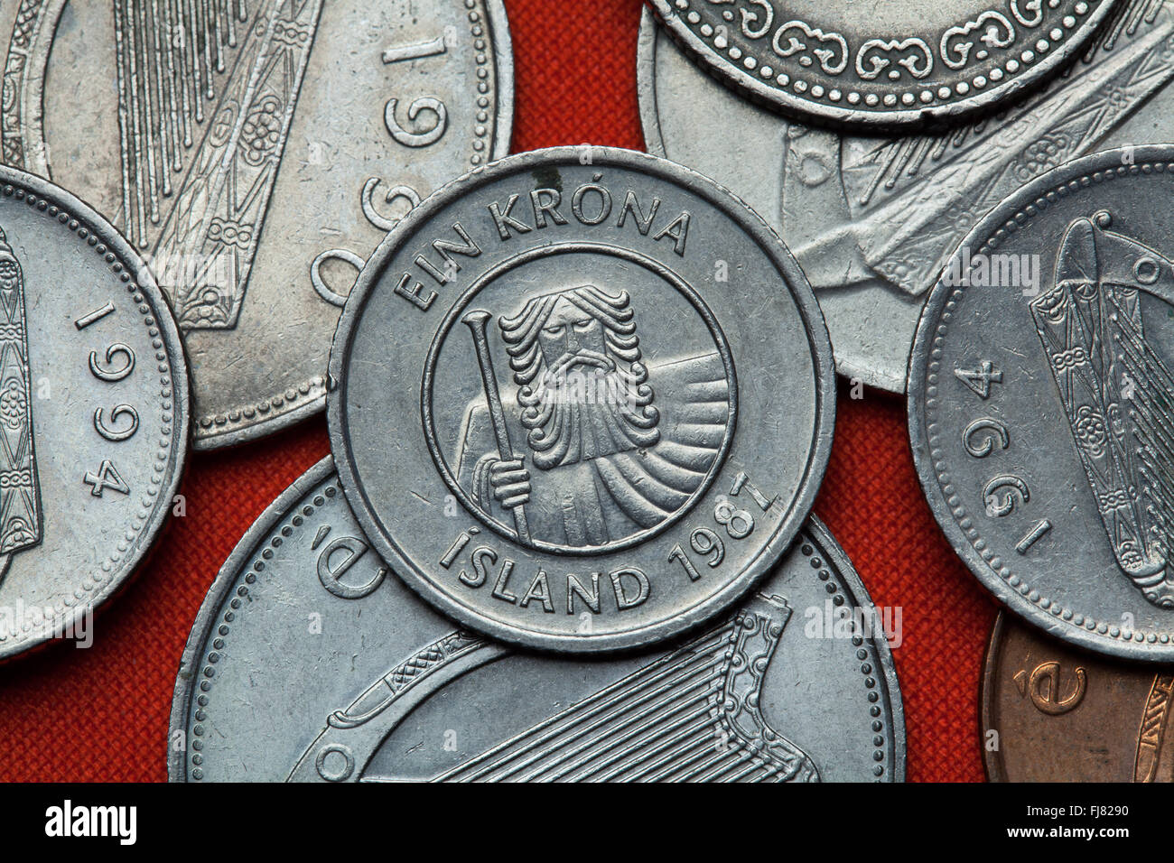 Münzen Von Island Mountainbike Giant Landvaettir Dargestellt In Der
