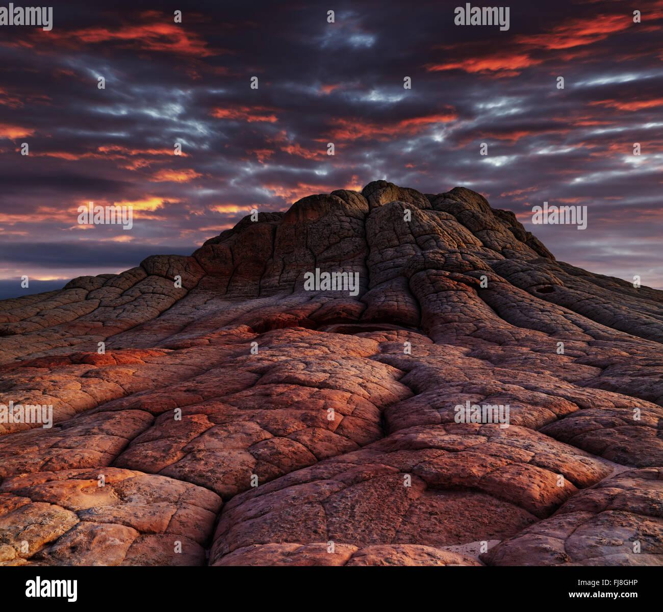 White Pocket Felsformationen, Vermilion Cliffs National Monument, Arizona, USA Stockbild